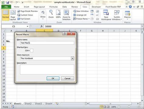 tutorialspoint exles using macros in excel 2010