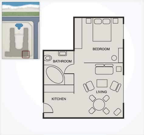 one bedroom apartment size studio307