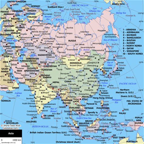 asia map with names asia map with country names mexico map