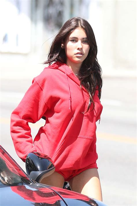 madison beer red madison beer in red short shorts 16 gotceleb