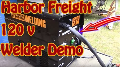 diy harbor freight  amp ac  volt flux cored wire feed