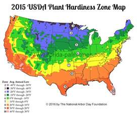 Find My Gardening Zone - palm tree cold hardiness zone map