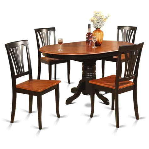 4 dining room set east west furniture east west furniture avon 5 60x42 oval dining room table set with 4
