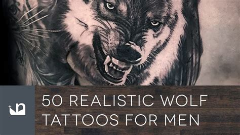 wolf tattoos for men 50 realistic wolf tattoos for