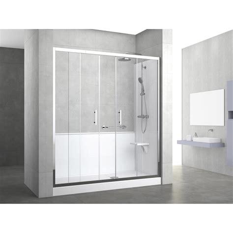 remplacer baignoire par leroy merlin kit de remplacement baignoire par entre 3 murs 160 x 80 cm elyt evolution leroy merlin