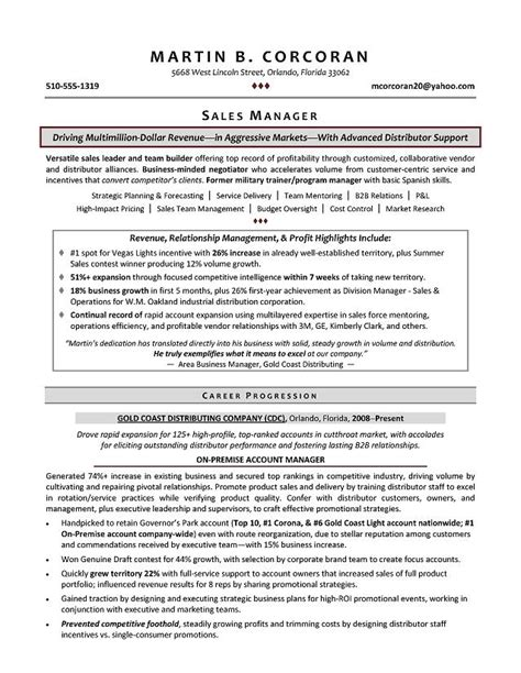 sle management resume sales manager resume sles sle resumes