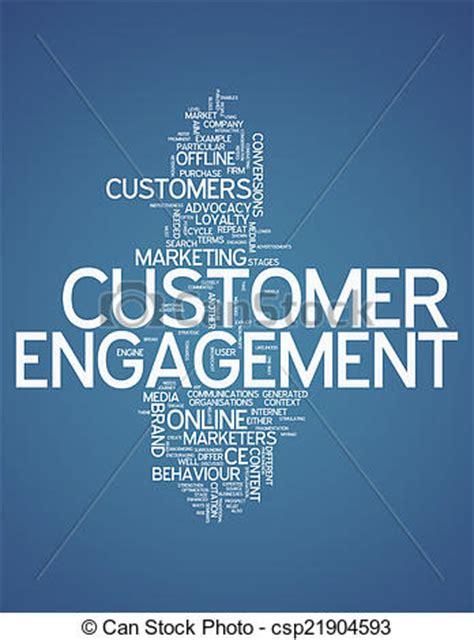 stock illustration  word cloud customer engagement word cloud  customer csp