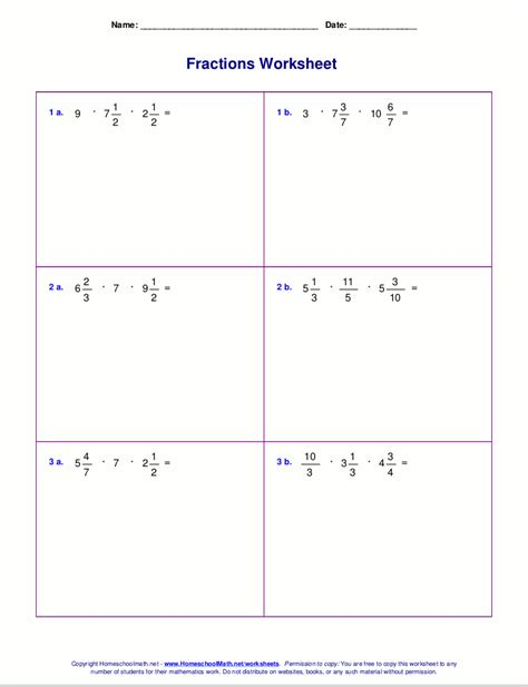 Multiplying Mixed Numbers Worksheet by Free Coloring Pages Of Operations With Fractions