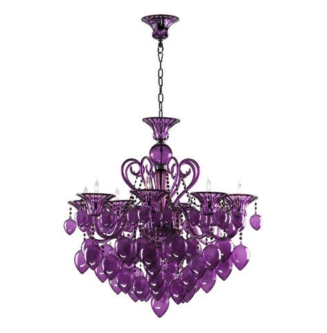 Purple Chandelier Vetro 8 Light Purple Murano Glass Chandelier Kathy Kuo Home