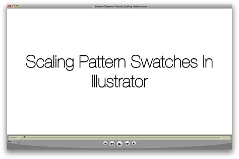 how to scale pattern swatches in illustrator illustrator tip resizing pattern swatches pattern observer