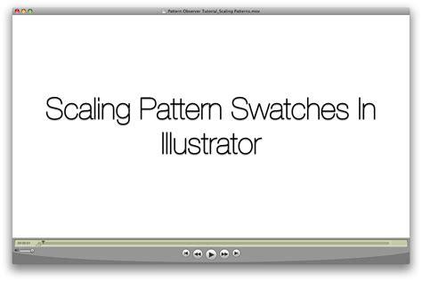 illustrator pattern resize illustrator tip resizing pattern swatches pattern observer