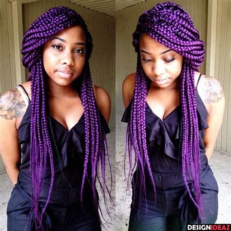grey and purple box breads 1000 ideas about purple box 10 awesome african american colored braided hairstyles
