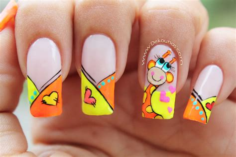 imagenes de uñas masglo decoraci 243 n de u 241 as jirafa giraffe nail art youtube