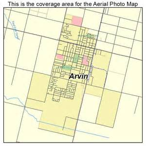 aerial photography map of arvin ca california