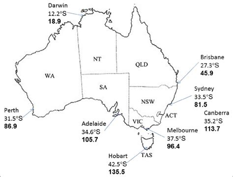 australia map with states and capital cities map of australia showing states territories capital