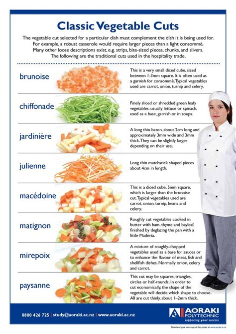 cuts of vegetables diagrams types of vegetable cuts pictures to pin on