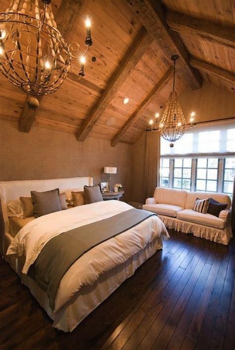 Beaded Wood Chandelier White Wingback Headboard Transitional Bedroom