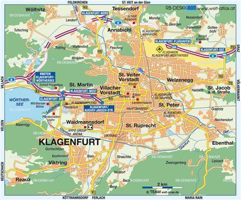 klagenfurt map map of klagenfurt austria map in the atlas of the