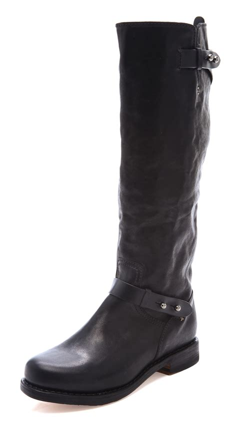 rag and bone boots lyst rag bone knee high moto boots in black