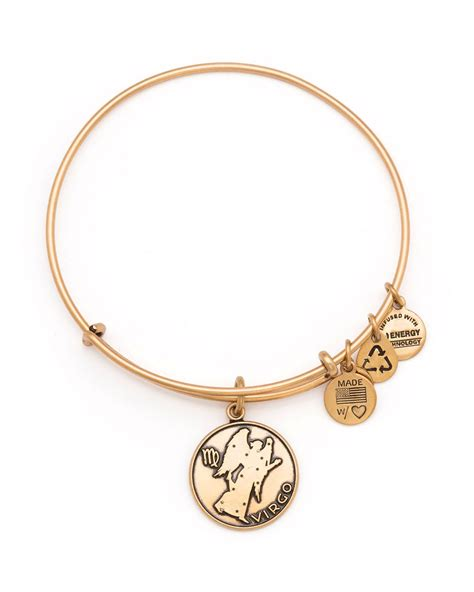 alex and ani alex and ani virgo bangle in gold russian gold lyst