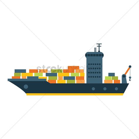 cargo boat clipart cargo ship vector image 1308050 stockunlimited