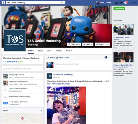 old yahoo layout 2016 facebook s new pages layout t s online marketing