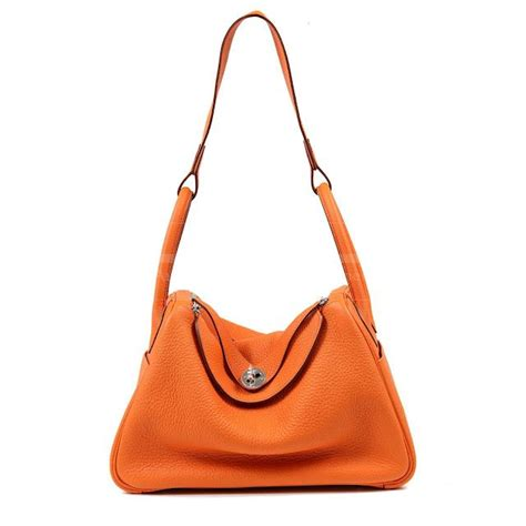 Lindy Togo 25cm authentic hermes orange togo leather 30 cm lindy bag 7200 0000