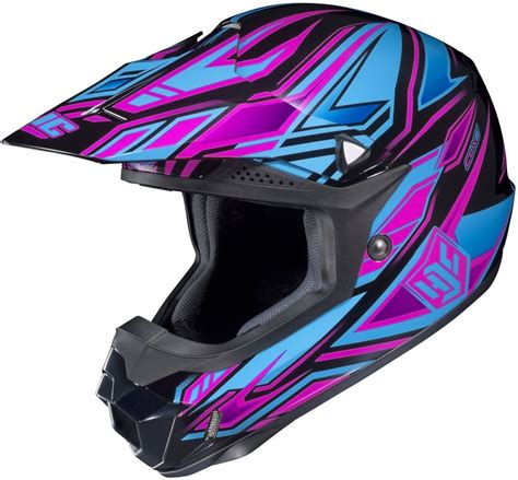 girls motocross helmet hjc cl x6 fulcrum womens motocross mx atv dirt bike
