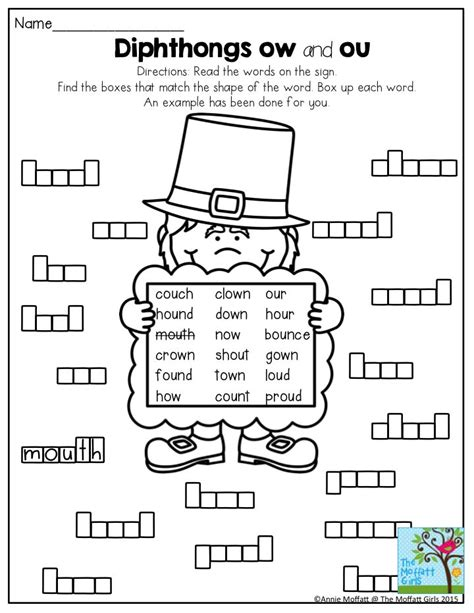ow pattern words 13 best ou ow diphthong images on pinterest teaching