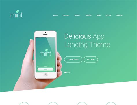 10 Inspiring Landing Page Templates For Mobile Apps 2017 Awe7 Iphone App Landing Page Template