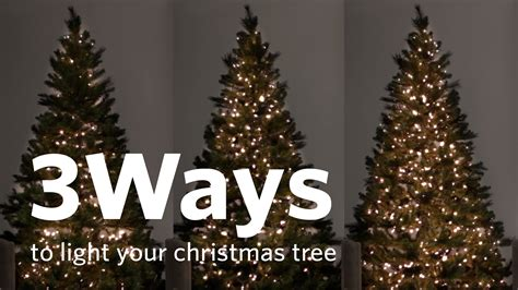 how to string lights on a christmas tree how to hang tree lights 3 different ways