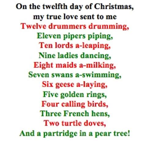 printable lyrics for 12 days of christmas delta scape did you get anything good