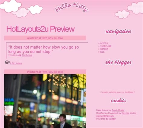 hello kitty tumblr themes free 30 free tumblr themes with sidebar 2015 inspirationseek com