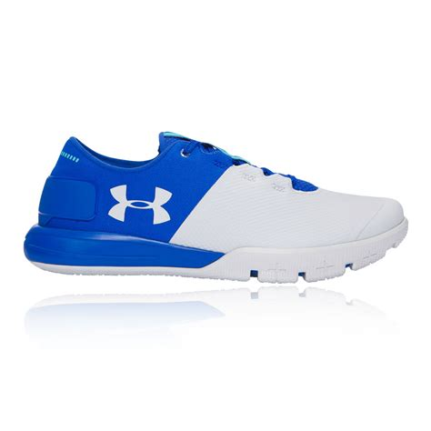 mens armour sneakers armour charged ultimate mens white blue sneakers