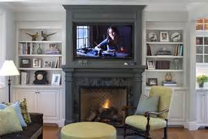 Fireplace Bookshelves Ideas Fireplace Mantel Ideas Family Room Traditional With Built