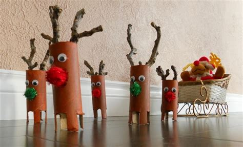 How To Make Paper Reindeer - craft from toilet paper rolls craft gift ideas