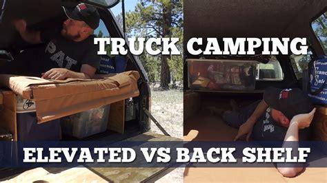 pickup truck camping sleeping platform styles  shelf