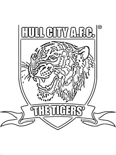 Colour Pages Hull Hull City A F C Logo Coloring Page Coloring Pages