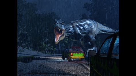 jurassic park car trex t rex breakout free dinosaur by unity5games