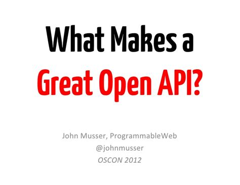 what makes a great open api