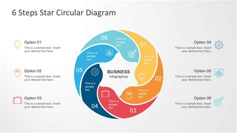 best circular diagrams templates for presentations 6 steps circle diagram