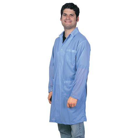 Smock That by Desco 73601 Statshield 174 Smock Lab Coat With Snaps Blue