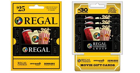 Regal Gift Cards Walgreens - 25 regal gift card only 20 44 shipped more hip2save
