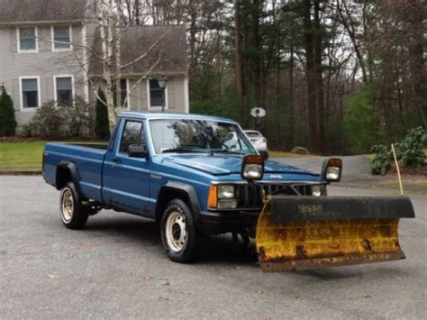 jeep comanche blue sell used 1987 jeep comanche extended bed pick up 4x4 with