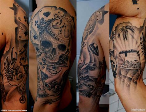 black men tattoos sleeve tattoos for black and white for