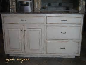 Distressed Kitchen Cabinets Lynda Bergman Decorative Artisan White Kitchen Cabinets To A Painted Stained Wood Look And