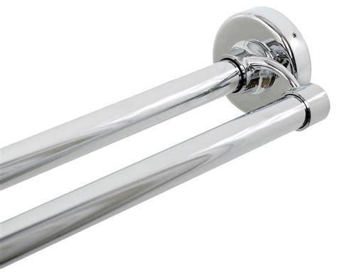 chrome drapery rods zenna home zenna home chrome double shower rod reviews