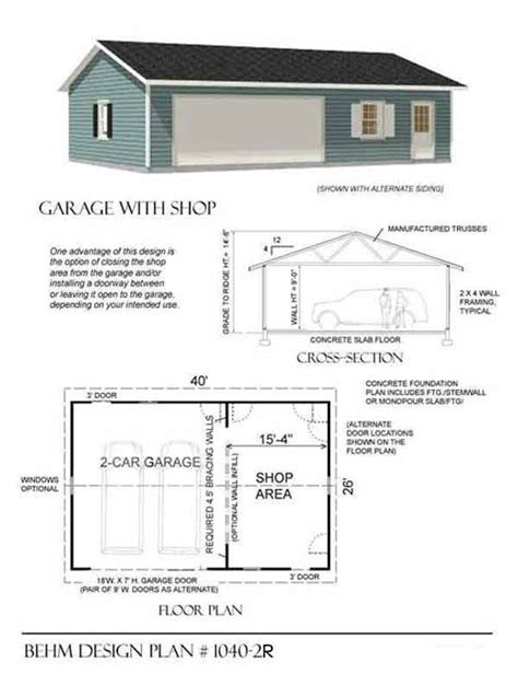 garage workshop plans 8 best garages images on pinterest 3 car garage plans
