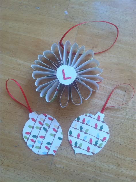 how to make paper christmas ornaments for cheap