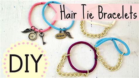DIY Hair Tie Bracelets (EASY) by Michele Baratta   YouTube